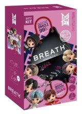 『TinyTAN』BREATH SILVER QUINTET マスク(ZenBlack) 7pcsBOX(14枚入り) ※ポーチ・ストラップ付き【KiNiNaRu/きになる】公式グッズ TinyTAN  bts キャラクターグッズ通販